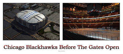 Photograph - Chicago Blackhawks Before The Gates Open Interior 2 Panel White 01 by Thomas Woolworth