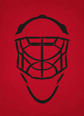 Hockey Photograph - Chicago Blackhawks Goalie Mask by Joe Hamilton
