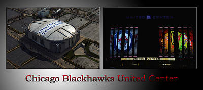 Photograph - Chicago Blackhawks United Center 2 Panel Sb by Thomas Woolworth