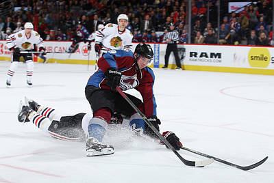 Photograph - Chicago Blackhawks V Colorado Avalanche by Doug Pensinger
