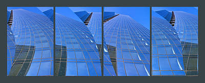 Photograph - Chicago Blue Glass 1 by Theo OConnor