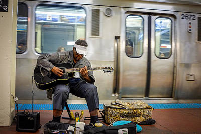 Photograph - Chicago Blues Muscian by John McArthur