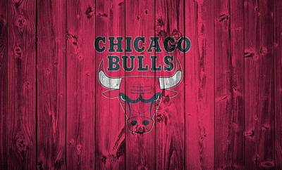 Athletes Mixed Media - Chicago Bulls Barn Door by Dan Sproul