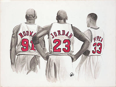 Scottie Pippen Painting - Chicago Bulls by Megan Padilla