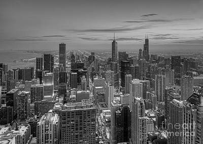 Chicago Bw Art Print by Jeff Lewis