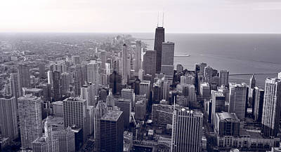 Chicago Bw Art Print by Steve Gadomski