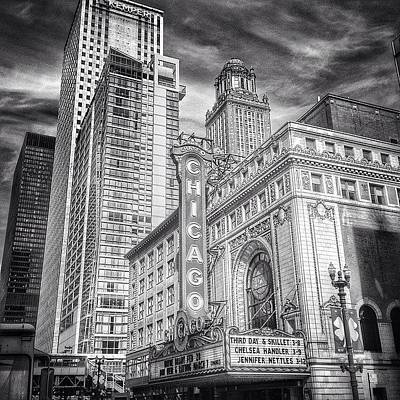 Blackandwhite Photograph - #chicago #chicagogram #chicagotheatre by Paul Velgos