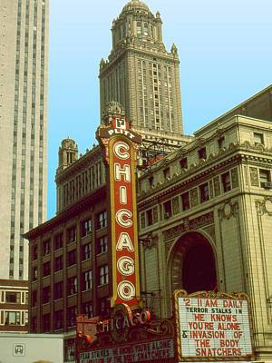 Shopping Painting - Chicago Cinema - Architecture by Art America Gallery Peter Potter