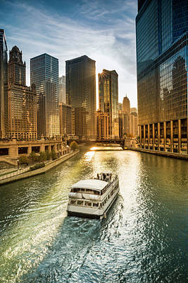 Photograph - Chicago Cityscape And River by Pgiam