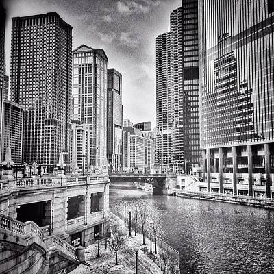 Skyscraper Wall Art - Photograph - #chicago #cityscape #chicagoriver by Paul Velgos