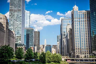 Chicago Cityscape Downtown Buildings Art Print by Paul Velgos