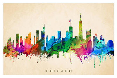 Digital Art - Chicago Cityscape by Steve Will