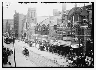 Photograph - Chicago Coliseum 1912 by Historic Photos