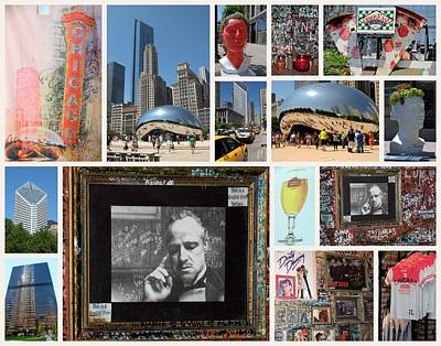 Photograph - Chicago Collage by Caroline Stella