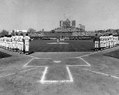Illinois Photograph - Chicago Cubs National Anthem  by Retro Images Archive