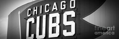 Chicago Photograph - Chicago Cubs Sign Panoramic Picture by Paul Velgos