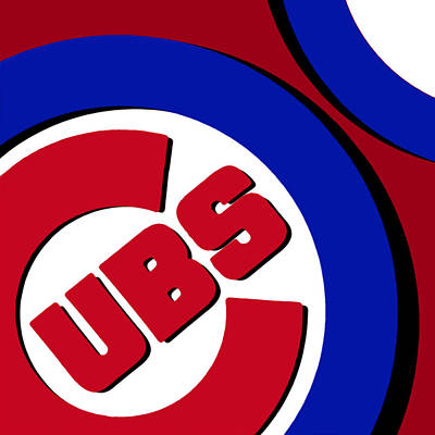 Baseball Art Painting - Chicago Cubs Football by Tony Rubino