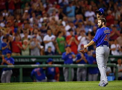Photograph - Chicago Cubs V Boston Red Sox by Jared Wickerham