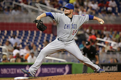 Photograph - Chicago Cubs V Miami Marlins by Mike Ehrmann