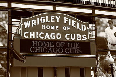 Chicago Cubs - Wrigley Field 25 Art Print by Frank Romeo