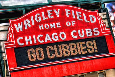 Sears Tower Painting - Chicago Cubs Wrigley Field by Christopher Arndt