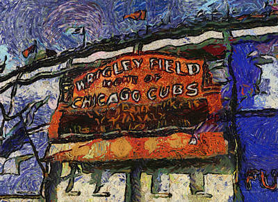 Ryno Photograph - Chicago Cubs Wrigley Field Marquee Photo Art 04 by Thomas Woolworth