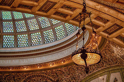 Glasswork Photograph - Chicago Cultural Center Tiffany Dome by Mike Burgquist