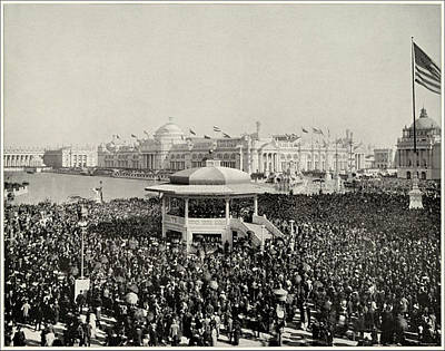 Photograph - Chicago Day At Worlds Fair Columbian Exposition 1893 by Historic Photos