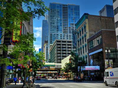 Photograph - Chicago - E Randolph Street 001 by Lance Vaughn