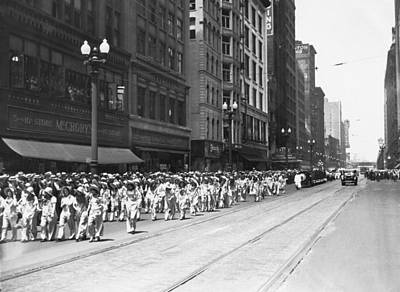 Photograph - Chicago Eat More Meat Parade by Underwood Archives