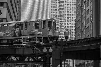 Photograph - Chicago El And Cityscape  by John McGraw