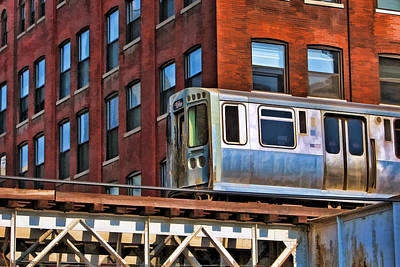 Chicago Wall Art - Painting - Chicago El And Warehouse by Christopher Arndt