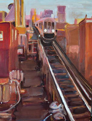 Painting - Chicago El by Julie Todd-Cundiff