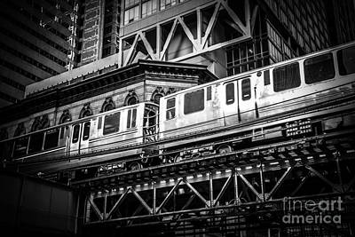 Trains Photograph - Chicago Elevated  by Paul Velgos