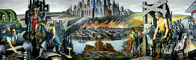 Depression Painting - Chicago - Epoch Of A Great City by Pg Reproductions