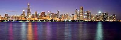 Chicago Evening Panorama Art Print