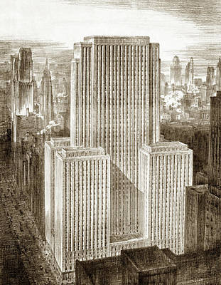 Art Deco Buildings Drawing