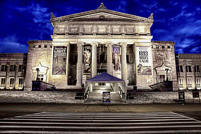 Photograph - Chicago Field Museum Blue Hour by Michael  Bennett