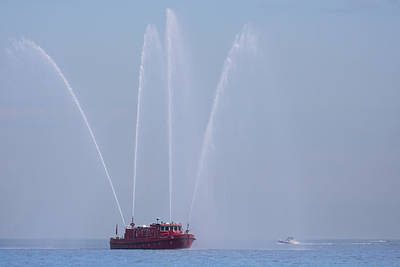 Chicago Fireboat Art Print by Adam Romanowicz