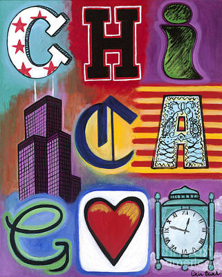Painting - Chicago Flag by Carla Bank