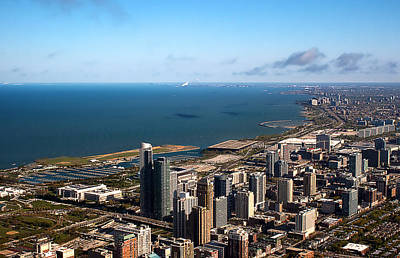 Photograph - Chicago From Above by Milena Ilieva