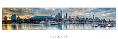Sky Line Photograph - Chicago From Burnham Harbor by Twenty Two North Photography