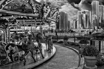 Photograph - Chicago From The Carousel by Erwin Spinner