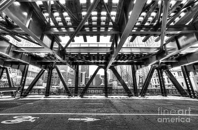 Chicago From Under A Bridge Art Print by Twenty Two North Photography