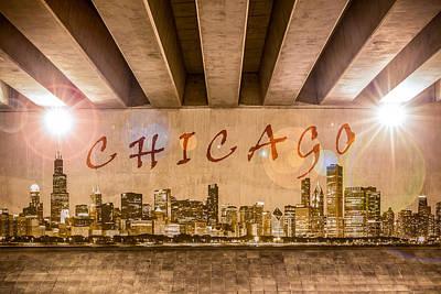 Photograph - Chicago Graffiti Skyline by Semmick Photo