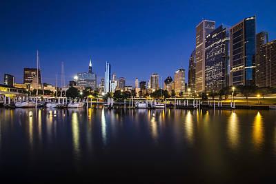 Chicago Harbor And Skyline At Dawn Art Print by Sven Brogren