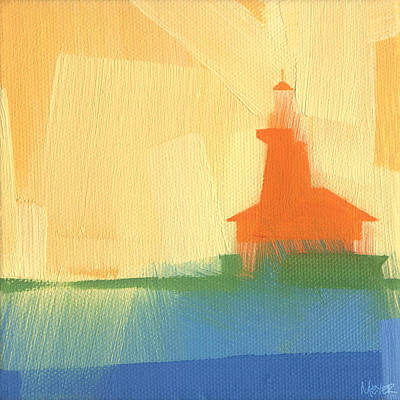 Harbor Painting - Chicago Harbor Light 6 Of 100 by W Michael Meyer