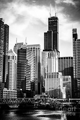 Chicago High Resolution Picture In Black And White Art Print