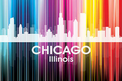 Digital Art - Chicago Il 2 by Angelina Vick