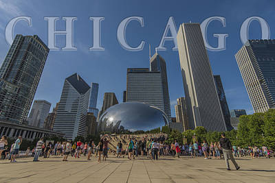 Photograph - Chicago Illinois Bean Letters by David Haskett